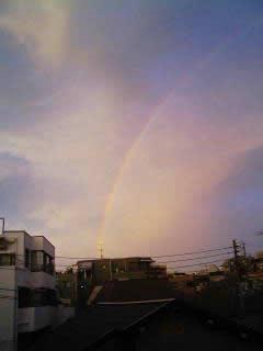 東のそらは「虹」