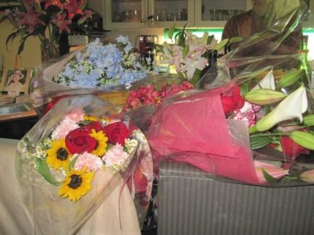 沢山のお花を頂き、まるでリサイタルのようでした!
